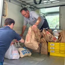 Postal Workers Food Drive Is a Big Success