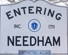 Entering Needham sign